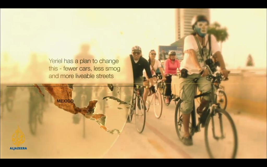 Documental de Juan Pablo Rojas para Al Jazeera sobre el movimiento bicicletero en GDL