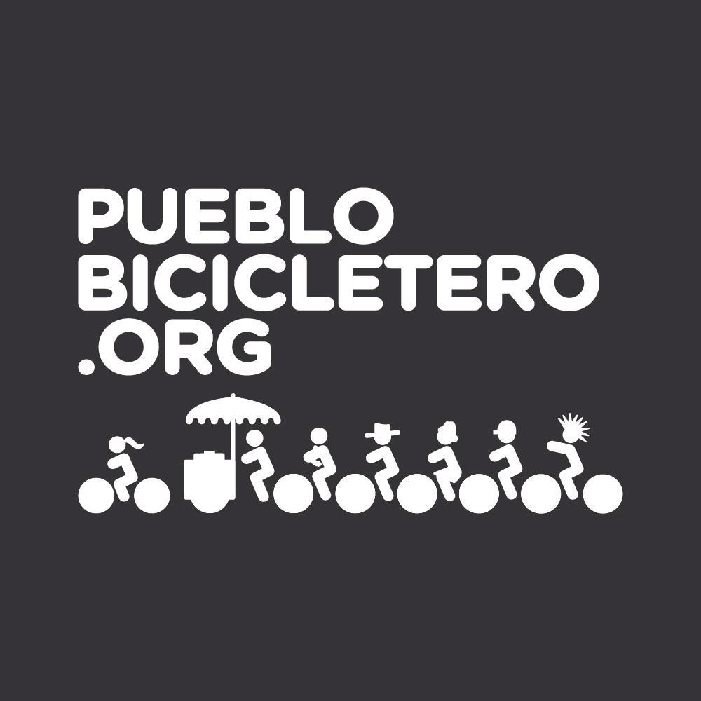 logo pueblo bicicletero negro