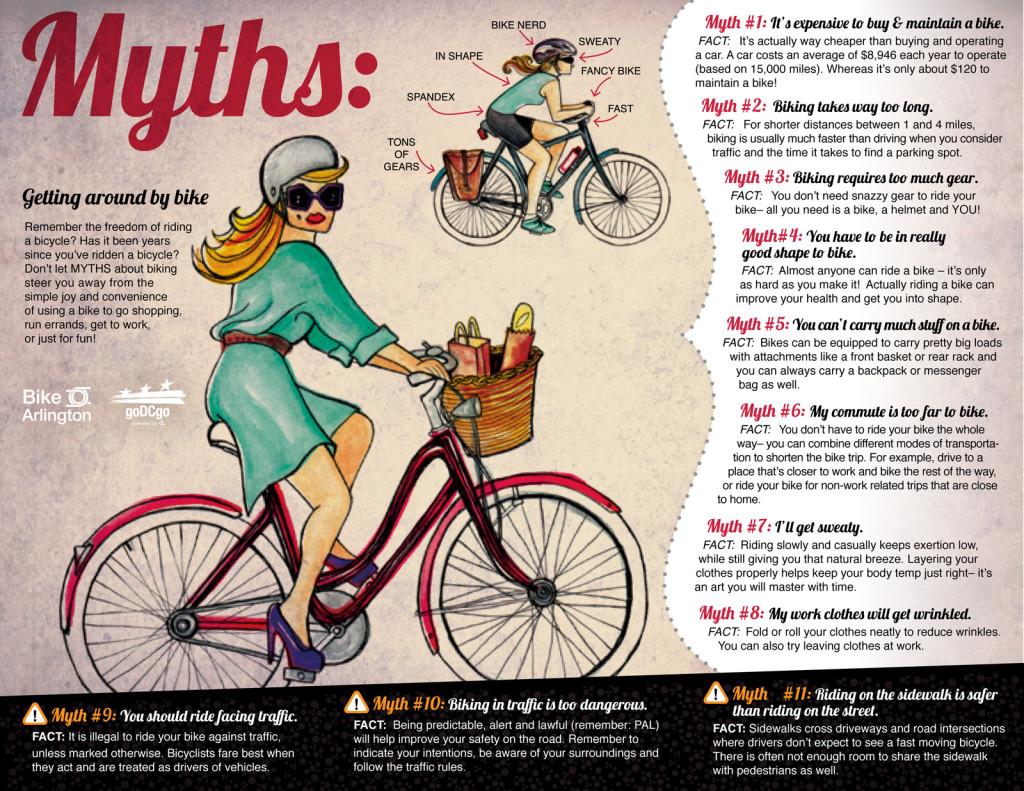 mitos de andar en bici
