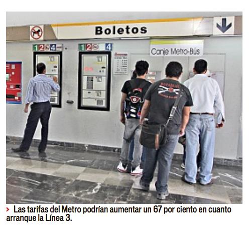 tarifas metro