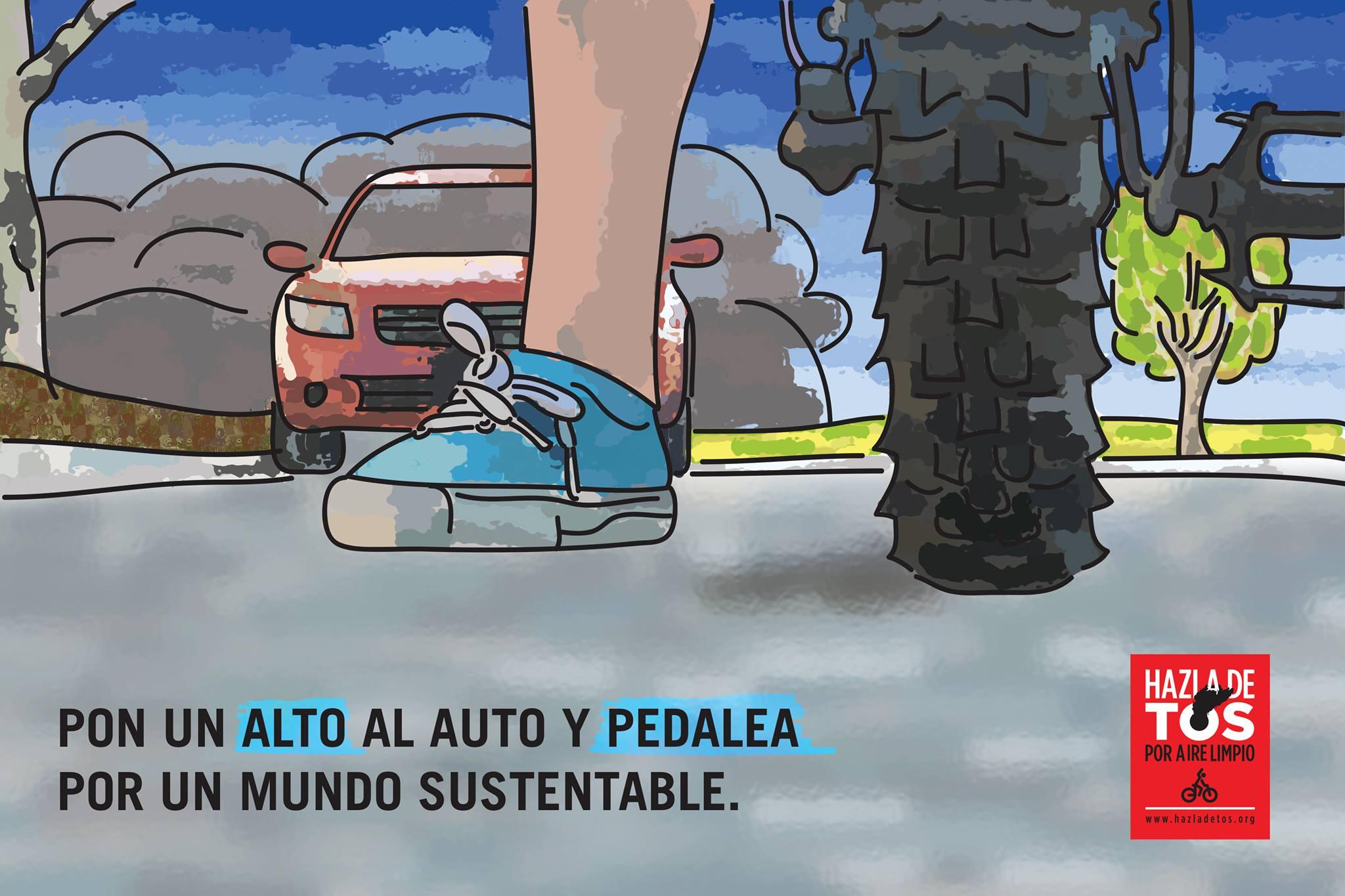 Pon un alto al auto y pedalea por un mundo sustentable