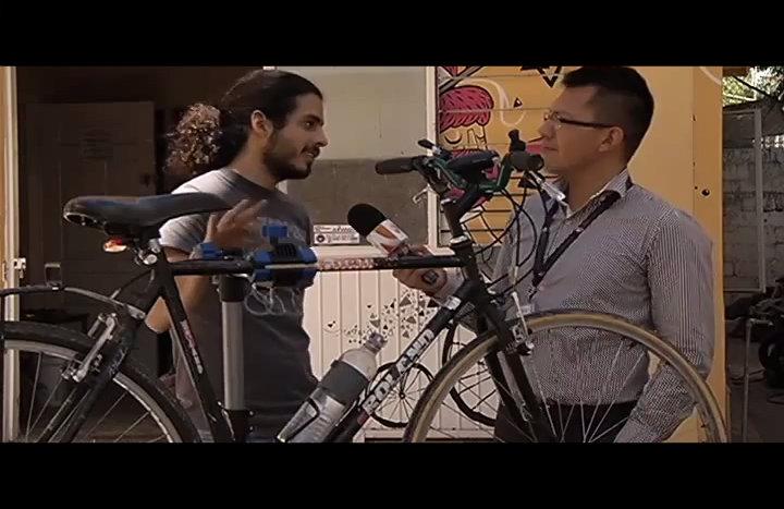 Casa Bicicletera - entrevista Milenio TV