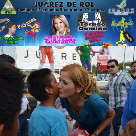 Proselitismo político Margarita Arellanes en Juárez de Rol