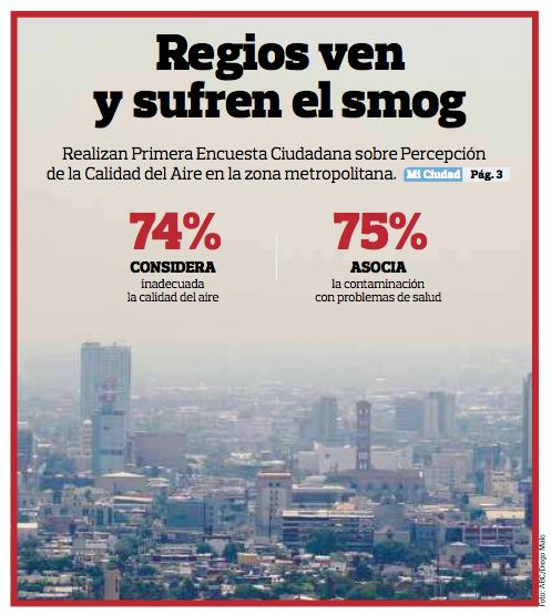 Regios ven y sufren smog