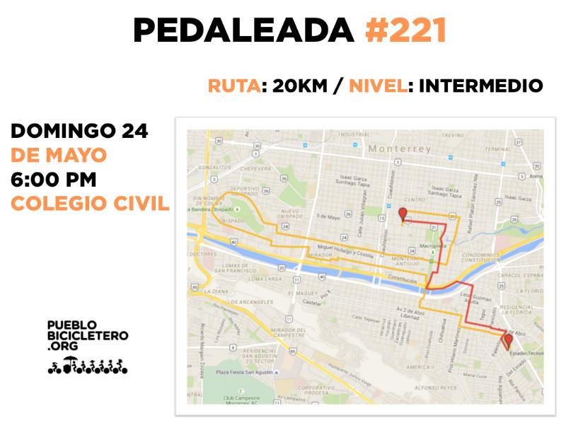 Pedaleada 221 pueblo bicicletero