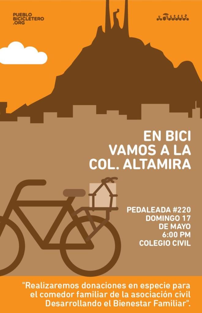 pedaleada 220 pueblo bicicleero