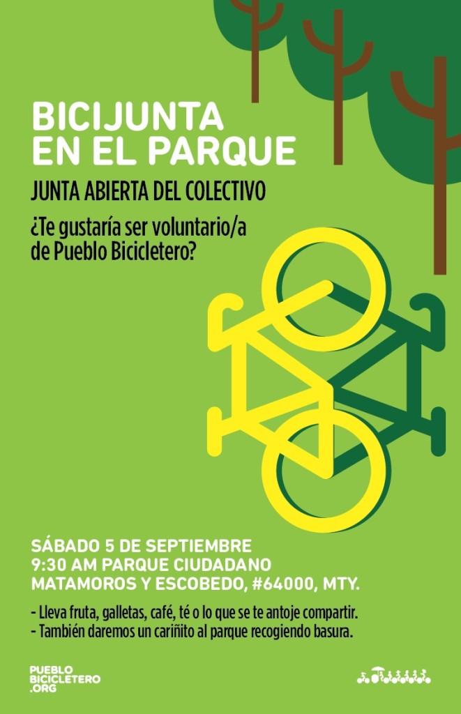Junta Pueblo Bicicletero 5 de septiembre