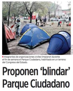 Proponen blindar parque ciudadano - El Norte - 18 de enero de 2016