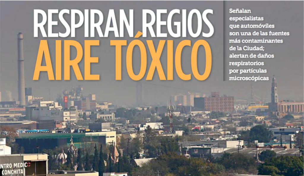 Respiran regios aire tóxico - El Norte - 18 de enero 2016