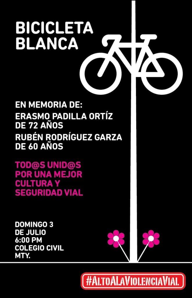 Bici Blanca Erasmo Padilla y Rubén Rodríguez - 3 de julio 2016