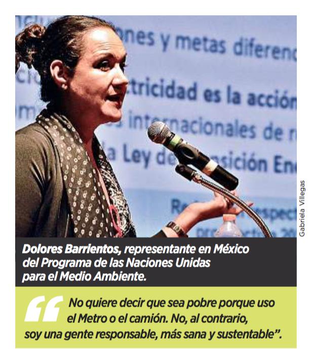 Dolores Barrientos, representante en México del Programa de las Naciones Unidas para el Medio Ambiente.